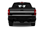 Straight rear view of 2020 Toyota Tundra Limited-5.7L-Crew-Max-Short-Bed 4 Door Pick-up Rear View  stock images