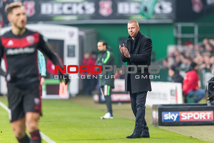 03.12.2016, Weserstadion, Bremen, GER, 1.FBL, Werder Bremen vs FC Ingolstadt 04<br /> <br /> im Bild<br /> Maik Walpurgis (Trainer FC Ingolstadt 04), <br /> <br /> Foto &copy; nordphoto / Ewert