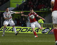 Jonny Hayes clears in the St Mirren v Aberdeen Clydesdale Bank Scottish Premier League match played at St Mirren Park, Paisley on 9.11.12.