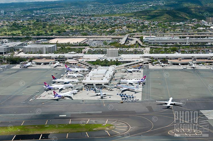 Aerial of Honolulu Int'l Airport