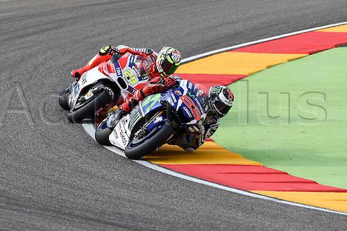 23.09.2016. Motorland Aragon, Alcaniz, Spain. MotoGP Grand Prix of Aragon, free Practice. Jorge Lorenzo (Movista Yamaha)during the free practice sessions.