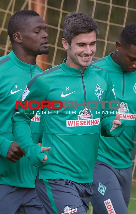 14.10.2014, Trainingsgelaende, Bremen, GER, 1.FBL, Training Werder Bremen, im Bild Fin Bartels (Bremen #22)<br /> <br /> Foto &copy; nordphoto / Frisch