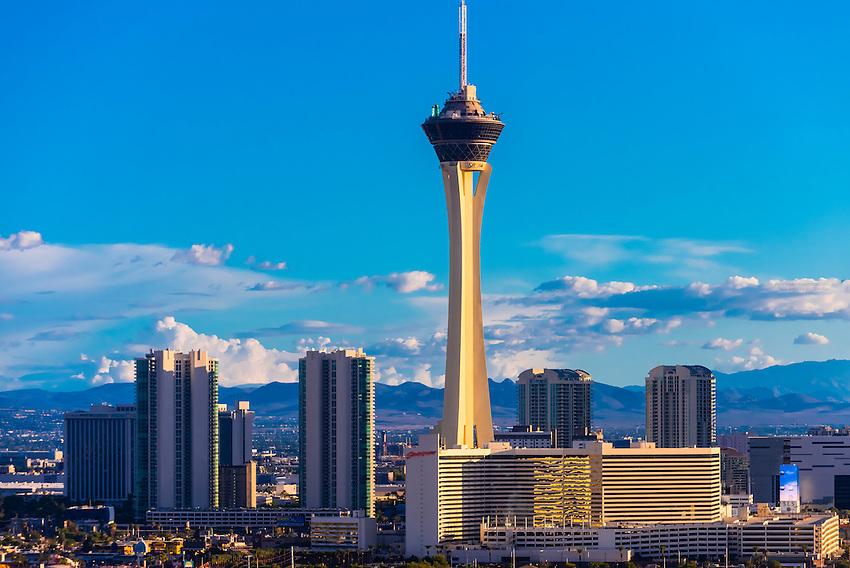 Stratosphere Casino Hotel & Tower, Las Vegas, Nevada USA.