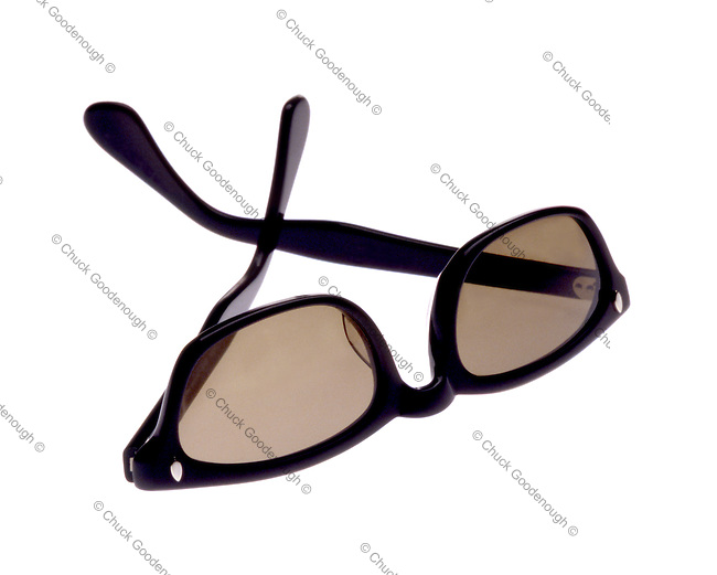 Stock Photo of Black Sunglasses Isolated on a white background