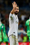 Dani Carvajal of Real Madrid celebrates goal during La Liga match between Real Madrid and CD Leganes at Santiago Bernabeu Stadium in Madrid, Spain. October 30, 2019. (ALTERPHOTOS/A. Perez Meca)