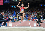 Wales Olivia Breen in action during todays heat<br /> <br /> Photographer Ian Cook/Sportingwales<br /> <br /> 20th Commonwealth Games - Long Jump - Athletics -  Day 4 - Sunday 27th July 2014 - Glasgow - UK