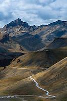 High mountain passes of the Himalayas, Leh-Manali Highway, Ladakh; Jammu and Kashmir State, India.