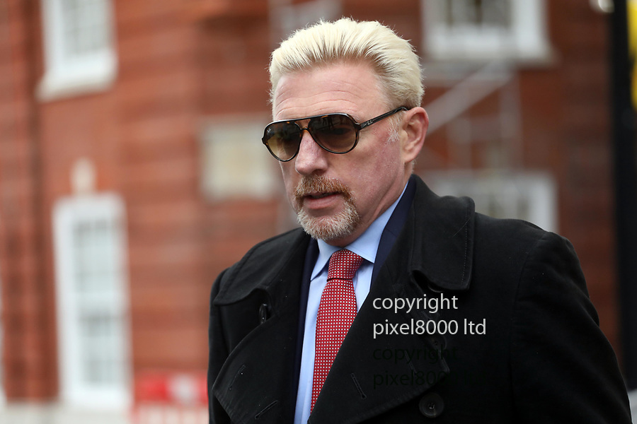 Pic shows:  Boris Becker leaves Family Division of the High Court in London today.<br /> 10.12.18<br /> <br /> <br /> <br /> Also his ex wife Lilly Kerssenberg left by a separate door to a waiting Merceds<br /> <br /> <br /> <br /> <br /> pic by Gavin Rodgers/Pixel8000
