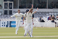 James Anderson of Lancashire CCC appeals in vain for a wicket during Middlesex CCC vs Lancashire CCC, Specsavers County Championship Division 2 Cricket at Lord's Cricket Ground on 11th April 2019