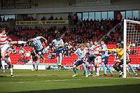 Doncaster Rovers v Coventry City, 23.4.2016<br /> Sky Bet League One<br /> Picture Shaun Flannery/Trevor Smith Photography<br /> Rovers Tommy Rowe (left) scores Rovers first goal.