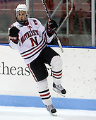 Tyler McNeely (NU - 94) - The Northeastern University Huskies defeated the St. Thomas Tommies 7-5 in their exhibition match on Saturday, October 3, 2009, at Matthews Arena in Boston, Massachusetts.