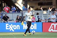 San Jose, CA - Saturday August 05, 2017: David Bingham prior to a Major League Soccer (MLS) match between the San Jose Earthquakes and the Columbus Crew at Avaya Stadium.