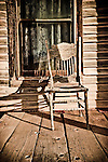 Porch and chairs, Goldfield, Nev.