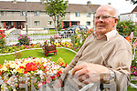 John McCarthy, Saint Brendan's Park, Tralee with his prize winning garden on Wednesday.
