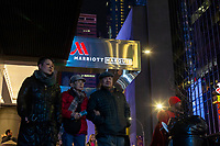 NEW YORK, NY - DECEMBER 1: People pass by the Marriott International hotel in Times Square on December 1, 2018 in New York. The largest hotel chain in the world, The Marriott International, has announced that it had suffered a massive data breach that affected round 500 million customers worldwide. (Photo by Eduardo MunozAlvarez/VIEWpress)
