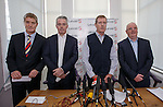 Dave King flanked by Richard Gough, Paul Murray and John Gilligan