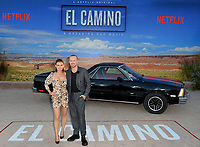 "LOS ANGELES, USA. October 08, 2019: Lauren Parsekian & Aaron Paul at the premiere of ""El Camino: A Breaking Bad Movie"" at the Regency Village Theatre.<br /> Picture: Paul Smith/Featureflash"
