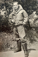 BNPS.co.uk (01202 558833)<br /> Pic:  DavidLay/BNPS<br /> <br /> Dashing - Flight Sergeant Douglas Alexander in his flight gear.<br /> <br /> Bomber command heroes WW2 exploits discovered in a shoebox.<br /> <br /> The personal effects of a fearless 'Tail-end Charlie' have been discovered in a shoebox - and they include a charming set of photos of his wartime service.<br /> <br /> Flight Sergeant Douglas Alexander, of 460 Squadron, took part in nearly 40 bombing raids over Germany, including the famous assault on Hitler's mountain retreat, Berchtesgaden.<br /> <br /> As a tail gunner, he sat in a tiny glass turret at the rear of Lancaster and Halifax bombers - a terribly exposed position.<br /> <br /> The shoebox, containing his bravery medals, logbooks and photos, was bought into auctioneer David Lay Frics, of Penzance, Cornwall, by his daughter.<br /> <br /> Flt Sgt Alexander's medal group includes the prestigious Distinguished Flying Medal, awarded for 'exceptional valour, courage and devotion to duty', with his photos capturing the camarederie which existed in the RAF as the airmen risked their lives on every mission to defeat Adolf Hitler.