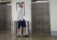 15 May 2018 - US House members have been sleeping in their offices and working out and hshowering before work. File Photo:  United States Representative Trey Gowdy (Republican of South Carolina) waits for the elevator outside the US House Members Gym in the Rayburn House Office Building on Tuesday, March 20, 2018.<br /> Credit: Ron Sachs/CNP/AdMedia
