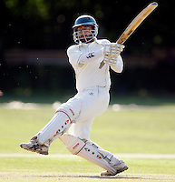 Z Sialvi bats for South Hampstead during the Middlesex County League Division three game between North London and South Hampstead at Park Road, Crouch End on Sat July 30, 2011
