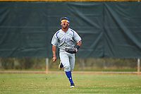 Seton Hall Pirates center fielder Derek Jenkins (6) calls for a fly ball during a game against the Indiana Hoosiers on March 5, 2016 at North Charlotte Regional Park in Port Charlotte, Florida.  Seton Hall defeated Indiana 6-4.  (Mike Janes/Four Seam Images)