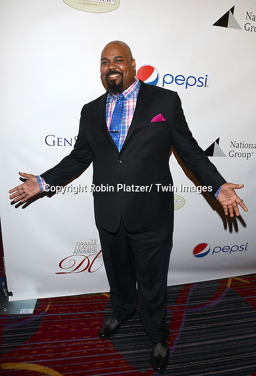 James Monroe Iglehart attends the 80th Annual Drama League Awards Ceremony and Luncheon on May 16, 2014 at the Marriot Marquis Hotel in New York City, New York, USA.