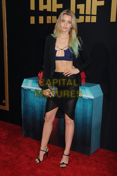30 July 2015 - Los Angeles, California - Abbey Lee Kershaw. &quot;The Gift&quot; Los Angeles Premiere held at Regal Cinemas LA Live.  <br /> CAP/ADM/BP<br /> &copy;Byron Purvis/AdMedia/Capital Pictures