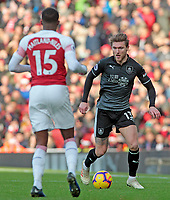 Burnley's Jeff Hendrick tries to get round Arsenal's Ainsley Maitland-Niles<br /> <br /> Photographer David Shipman/CameraSport<br /> <br /> The Premier League - Arsenal v Burnley - Saturday 22nd December 2018 - The Emirates - London<br /> <br /> World Copyright © 2018 CameraSport. All rights reserved. 43 Linden Ave. Countesthorpe. Leicester. England. LE8 5PG - Tel: +44 (0) 116 277 4147 - admin@camerasport.com - www.camerasport.com