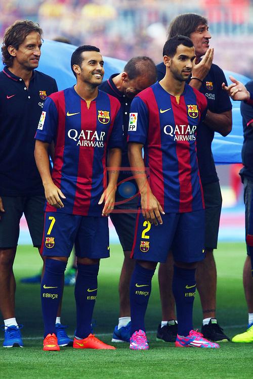 49e Trofeu Joan Gamper.<br /> FC Barcelona vs Club Leon FC: 6-0.<br /> Pedro &amp; Montoya.