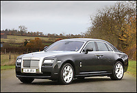 BNPS.co.uk (01202 558833)<br /> Pic: H&amp;H/BNPS<br /> <br /> 2011 Rolls Royce Ghost with only 2800 miles on the clock - &pound;110,000<br /> <br /> The &pound;1,000,000 garage sale... a stunning collection of luxury cars seized from the personal collection of a Middle Eastern sheikh has emerged. <br /> <br /> The impressive fleet, comprising Ferrari, Rolls-Royce and Bentley motors, has arrived at auction following a high court ruling against their former owner.<br /> <br /> Due to their unusual history many of the cars, all of which were UK based and have unusually low mileages, are being offered at a bargain price.