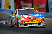 Aug. 8, 2009; Watkins Glen, NY, USA; NASCAR Sprint Cup Series driver Kyle Busch during practice for the Heluva Good at the Glen. Mandatory Credit: Mark J. Rebilas-