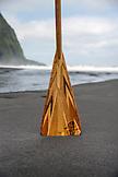 USA, Hawaii, The Big Island, paddle board paddle in the lush Waipio Valley