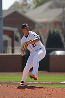 Buies Creek Astros pitcher Franklin Perez (21) pitching during a game against the Winston-Salem Dash at Jim Perry Stadium on the campus of Campbell University on April 9, 2017 in Buies Creek, North Carolina. Buies Creek defeated Winston-Salem 2-0. (Robert Gurganus/Four Seam Images)