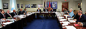 United States President Barack Obama chairs a meeting at the Pentagon of the National Security Council and receives an update from his national security team on the campaign to degrade and destroy the ISIL terrorist group. <br /> Credit: Dennis Brack / Pool via CNP