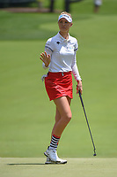 Nelly Korda (USA) reacts to draining her birdie putt on 10 during round 1 of the 2018 KPMG Women's PGA Championship, Kemper Lakes Golf Club, at Kildeer, Illinois, USA. 6/28/2018.<br /> Picture: Golffile | Ken Murray<br /> <br /> All photo usage must carry mandatory copyright credit (&copy; Golffile | Ken Murray)