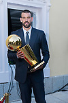 Player Marc Gasol exposes the NBA trophy during the first edition of Spanish Basketball Awards. July 25, 2019. (ALTERPHOTOS/Francis Gonzalez)