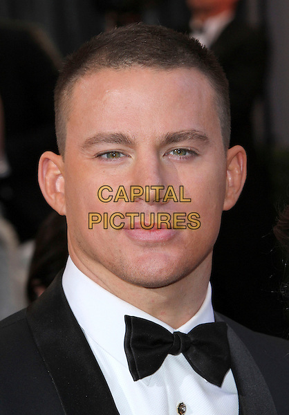 Channing Tatum.85th Annual Academy Awards held at the Dolby Theatre at Hollywood & Highland Center, Hollywood, California, USA..February 24th, 2013.oscars headshot portrait tuxedo black white shirt  bow tie.CAP/ADM/SLP/COL.©Colin/StarlitePics/AdMedia/Capital Pictures