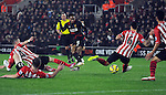 Raheem Sterling of Liverpool scores his goal to make it 2-0 - Barclays Premier League - Southampton vs Liverpool - St Mary's Stadium - Southampton - England - 22nd February 2015 - Pic Robin Parker/Sportimage