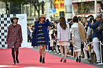 October 25, 2015, Tokyo, Japan - A street fashion show, coordinated by up-and-coming designers and participated by staff of the areas shops, gets under way in Shibuya, Tokyos gathering point for all ethnicities and age groups and the center of cutting edge culture and entertainment, on Sunday, October 25, 2015 (Photo by Natsuki Sakai/AFLO) AYF -mis-