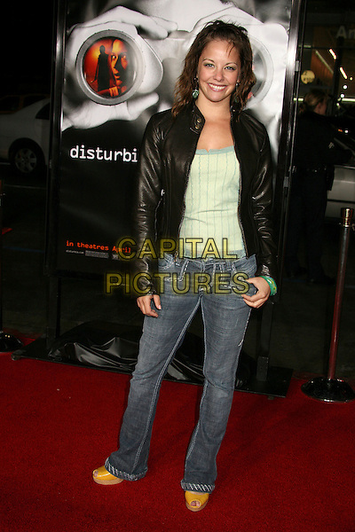 "AMY PAFFRATH.""Disturbia"" Los Angeles Premiere at Grauman's Chinese Theatre, Hollywood, California, USA..April 4th, 2007.full length jeans denim black leather jacket .CAP/ADM/BP.©Byron Purvis/AdMedia/Capital Pictures"