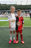 Pictured: Children mascots. Saturday 23 August 2014<br />