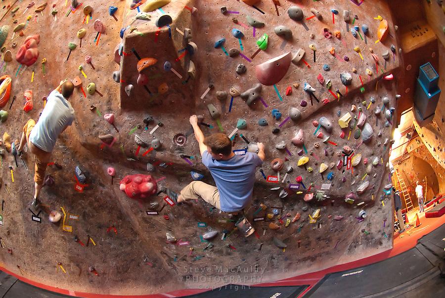 Rock Climbing at Stone Gardens, Ballard, Seattle, WA.