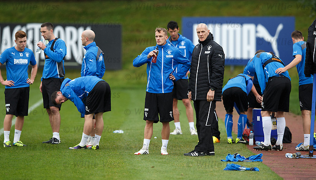 Dean Shiels and fitness coach Jim Hendry