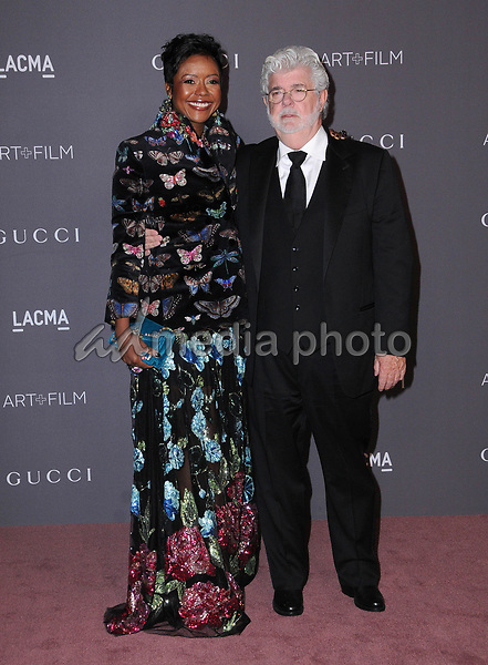 04 November  2017 - Los Angeles, California - Mellody Hobson, George Lucas. 2017 LACMA Art+Film Gala held at LACMA in Los Angeles. Photo Credit: Birdie Thompson/AdMedia