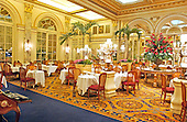 """New York, N.Y. - April 10, 2005 -- The Palm Court Restaurant in the Plaza Hotel in New York, New York on April 10, 2005.  The Plaza, which bills itself as """"the crown jewel of Manhattan's fabled Fifth Avenue"""" is scheduled to close April 30, 2005 for renovation and partial conversion to condominiums.<br /> Credit: Ron Sachs / CNP"""