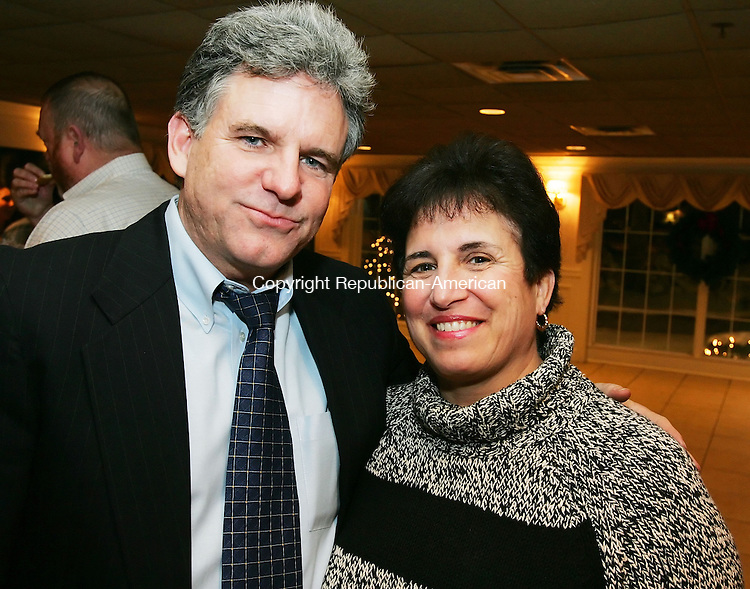 SOUTHINGTON, CT -09 January 2005 -010906JS20--- Jim Gorman of Southington, with his wife Phyllis Gorman, at the Waterbury Olympian Club's annual awards ceremony Monday at the Aqua Turf Club in Southington.--  Jim Shannon Republican-American --  Jim Gorman, Southington, Phyllis Gorman, Waterbury Olympian Club; Aqua Turf Club are CQ