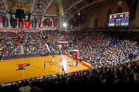 PHILADELPHIA - JANUARY 17: A view of the court during a game between the Villanova Wildcats and the Penn Quakers at the Palestra on the campus of the University of Pennsylvania on January 17, 2015 in Philadelphia, Pennsylvania. Villanova won 62-47. (Photo by Hunter Martin/Getty Images) *** Local Caption ***