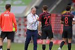 Schlussjubel -v.li:Florian NIEDERLECHNER  (FC Augsburg),<br />Stefan REUTER (Manager FC Augsburg).<br />Alfred FINNBOGASON (FC Augsburg),<br />Rani KHEDIRA (FC Augsburg).<br /><br />Fussball 1. Bundesliga, 33.Spieltag, Fortuna Duesseldorf (D) -  FC Augsburg (A), am 20.06.2020 in Duesseldorf/ Deutschland. <br /><br />Foto: AnkeWaelischmiller/Sven Simon/ Pool/ via Meuter/Nordphoto<br /><br /># Editorial use only #<br /># DFL regulations prohibit any use of photographs as image sequences and/or quasi-video #<br /># National and international news- agencies out #
