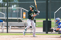 Oakland Athletics designated hitter Dustin Fowler (37) at bat during a rehab start in an exhibition game against Team Italy at Lew Wolff Training Complex on October 3, 2018 in Mesa, Arizona. (Zachary Lucy/Four Seam Images)