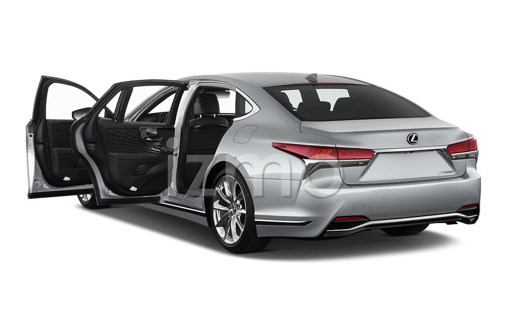 Car images close up view of a 2019 Lexus LS 500h 4 Door Sedan doors